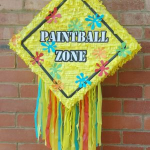 Paintball zone pinata