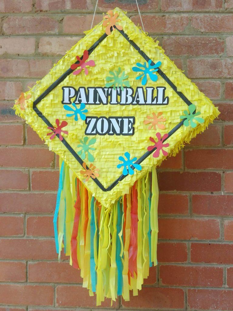 Paintball zone pinata