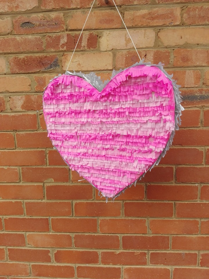 pink silver heart