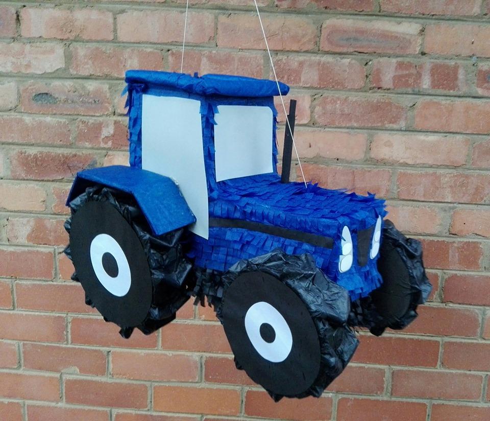 tractor blue pinata