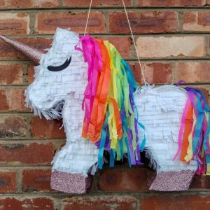 pink rainbow unicorn pinata