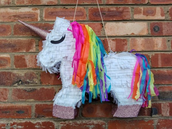 pink rainbow unicorn pinata