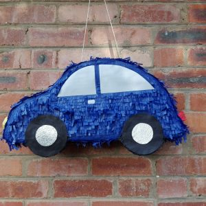 Blue car pinata